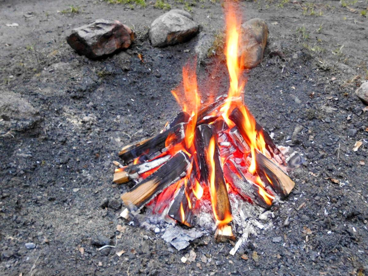 Lagerfeuer im Waldkindergarten in Bleckede